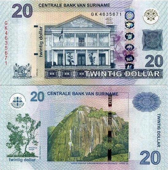 20 Dolárov Surinam 2012, P164b