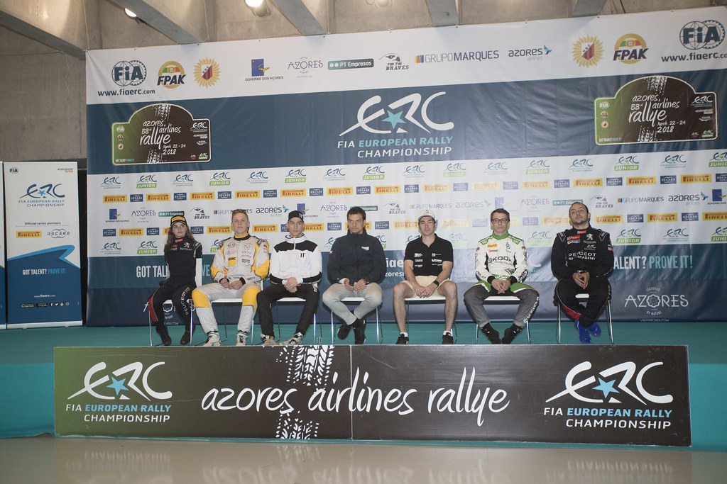 Pre events press conference   during the 2018 European Rally Championship ERC Azores rally,  from March 22 to 24, at Ponta Delgada Portugal - Photo Gregory Lenormand / DPPI