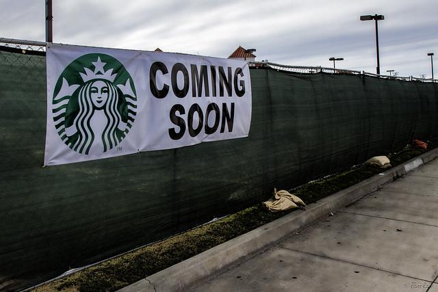 Starbuck's coming