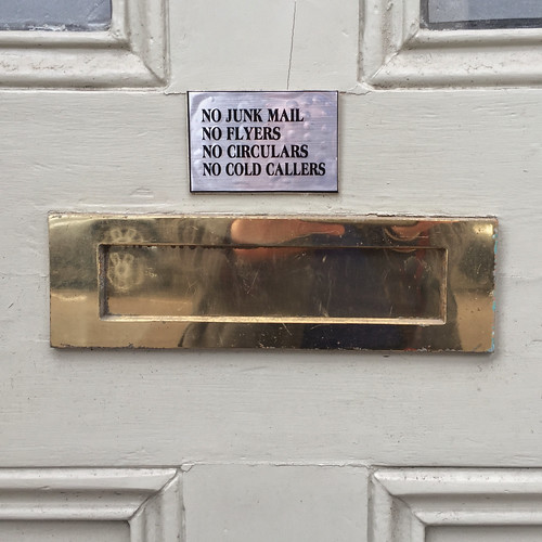 NO JUNK MAIL NO FLYERS NO CIRCULARS NO COLD CALLERS