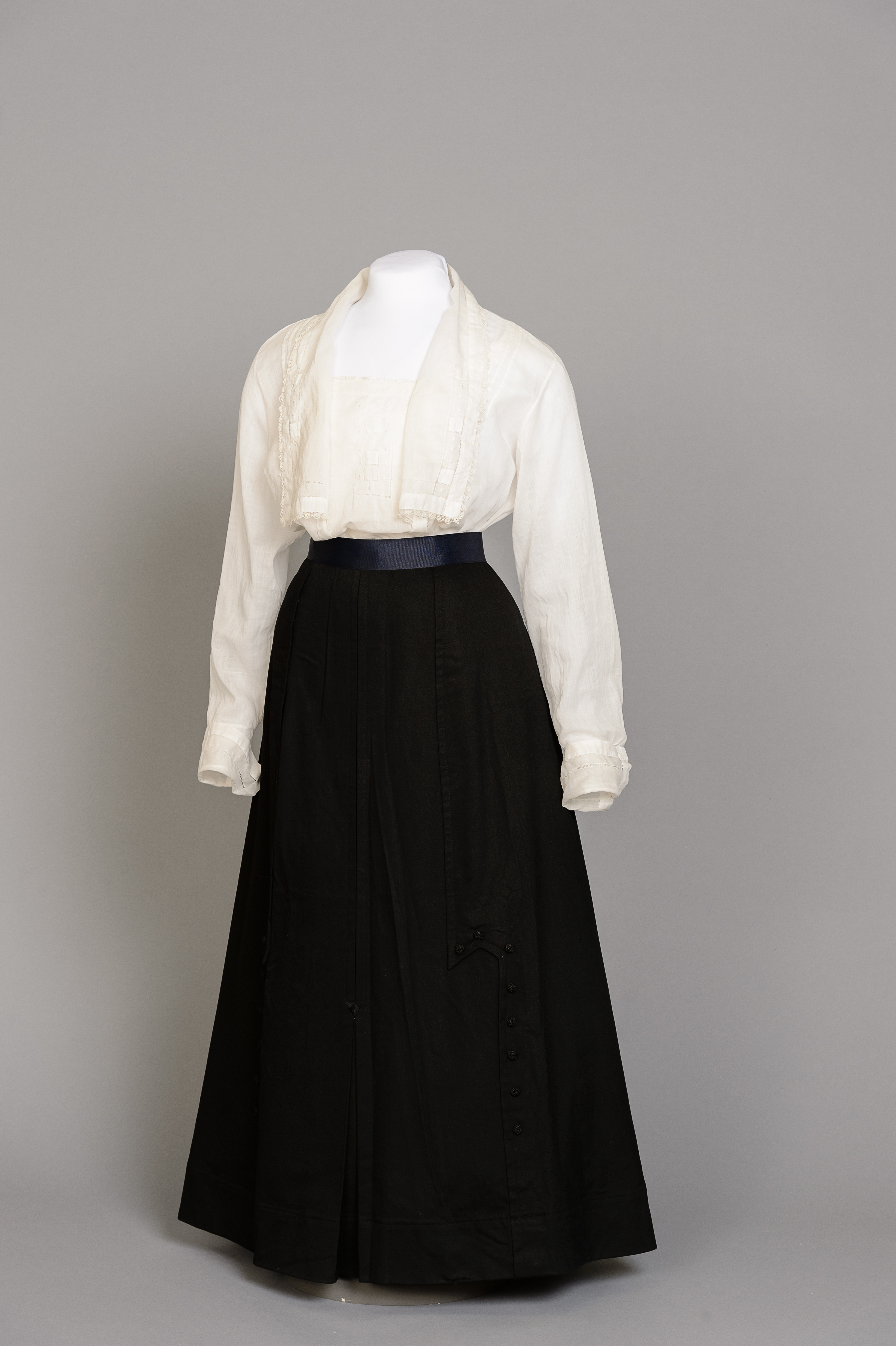 Fashion and Satire: Cotton Blouse and Wool Skirt