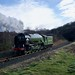 Tornado travels light engine to Kidderminster