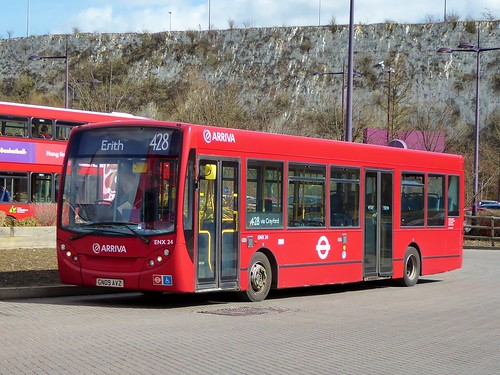 Arriva London ENX24 (GN09AVZ) on route 428 at Bluewater - 23rd March 2018