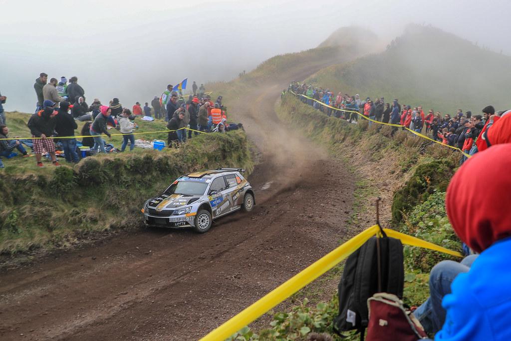 23 BOTKA David (hun), MESTERHAZI Mark (hun), SKODA FABIA R5, action during the 2018 European Rally Championship ERC Azores rally,  from March 22 to 24, at Ponta Delgada Portugal - Photo Jorge Cunha / DPPI