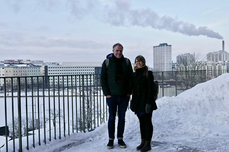 Ian Cook ja Eeva Kemppainen, Helsinki. Kuva: Sirpa Tani, 2018..