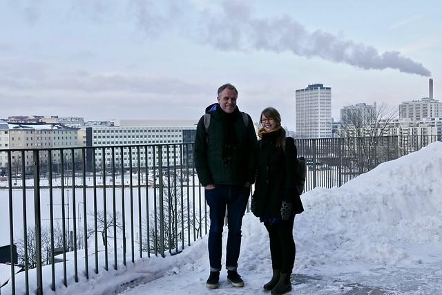 Ian Cook ja Eeva Kemppainen, Helsinki 2018. Kuva: Sirpa Tani.