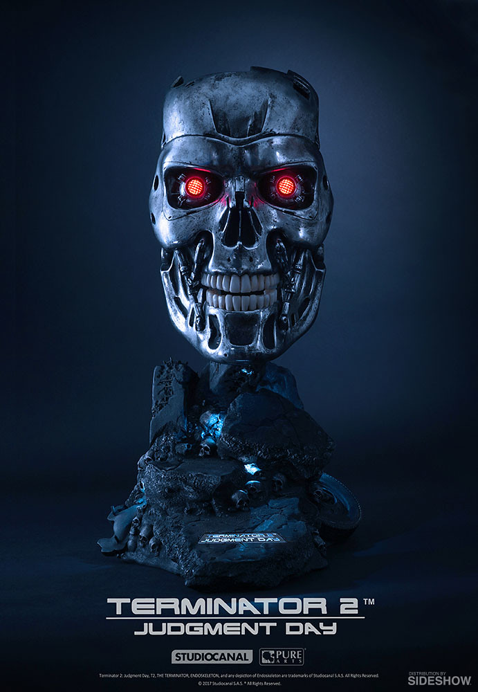 「Hasta la vista, baby.」Sideshow Collectibles × PureArts《魔鬼終結者2:審判日》T-800 內骨骼 T-800 Endoskeleton 1:1 比例雕像作品