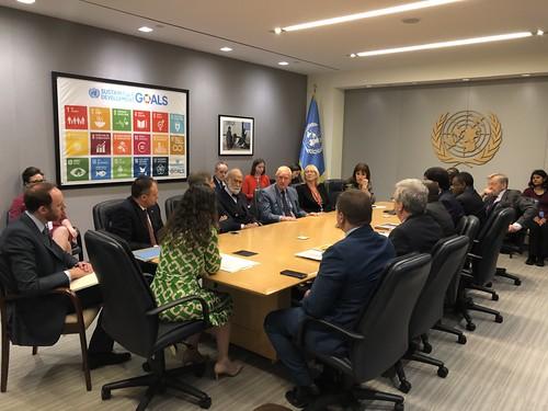 13.04.2018 Întrevedere cu reprezentanta ONU - Ana María Menéndez Pérez, consilieră principală pentru politică