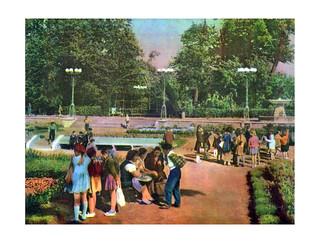 76 Дети на прогулке в парке