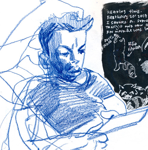 Sketchbook 112: Reading Time