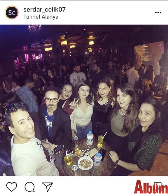 Goldcity Hotel Basın Danışmanı Serdar Çelik, haftanın yorgunluğunu Tunnel'de yakın dostlarıyla eğlenerek çıkardı.