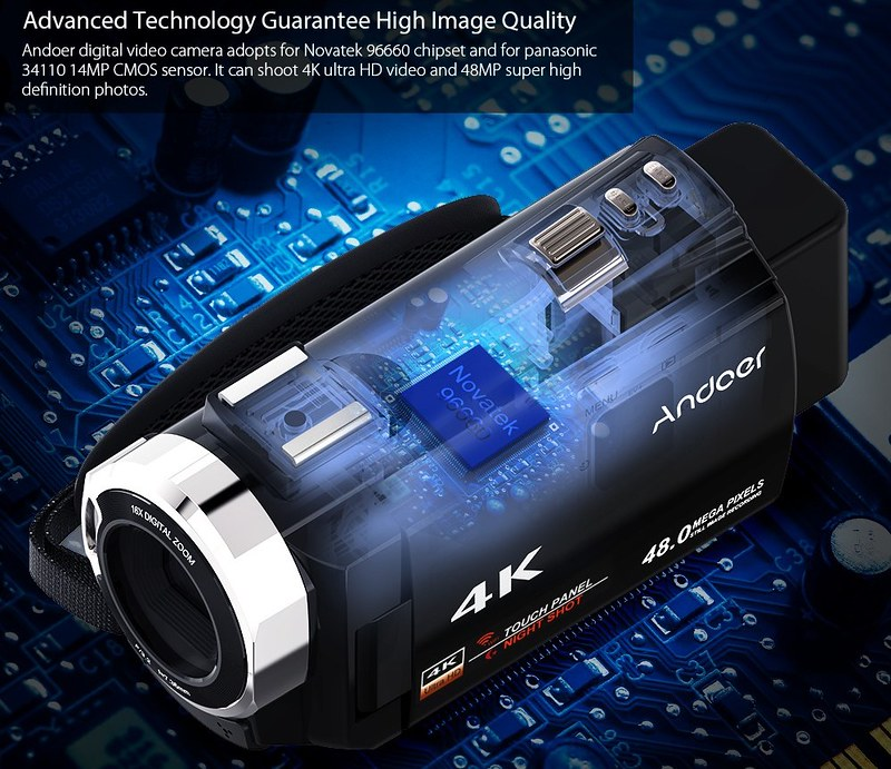 Andoer 4K ビデオカメラ (17)