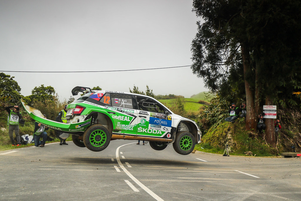 12 KOCI Martin (svk), SCHOVANEK Filip (cze), SKODA SLOVAKIA MOTORSPORT, SKODA FABIA R5, action during the 2018 European Rally Championship ERC Azores rally,  from March 22 to 24, at Ponta Delgada Portugal - Photo DPPI