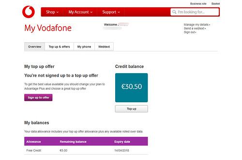 Vodafoneセットアップ画面6