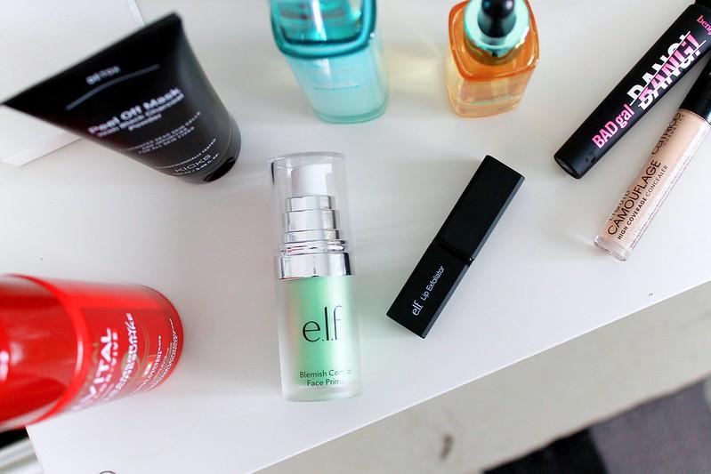 primer and lip scrub