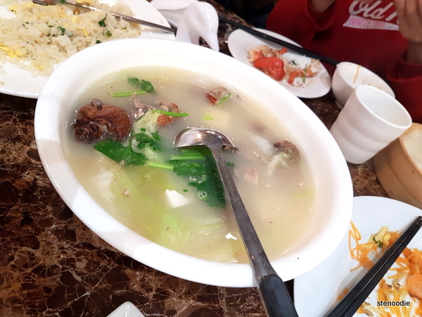 Duck meat soup