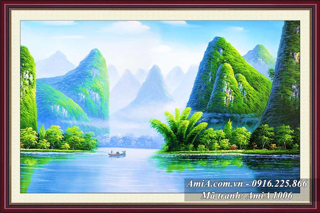 AmiA 1006 - Tranh phong cảnh quê hương em vịnh Hạ Long