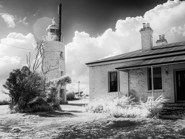 Middle Channel Lighthouse (infrared)