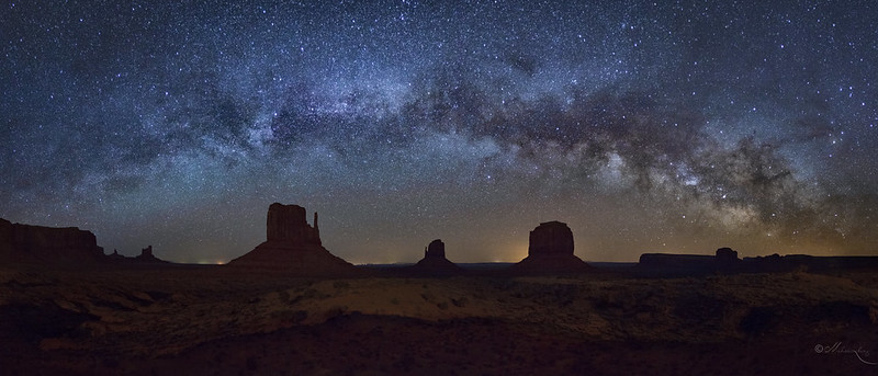 Monument Valley Under The Night Sky