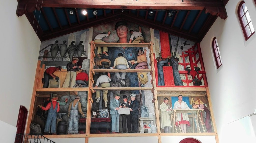 Affresco di Diego Rivera, San Francisco - Cardamomo & co