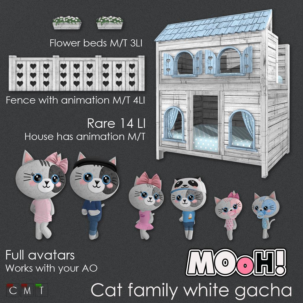 MOoH! Cat family white gacha