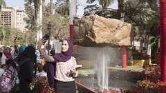 A selfie with an illusion at Egypt's Spring Flowers Fair 2018