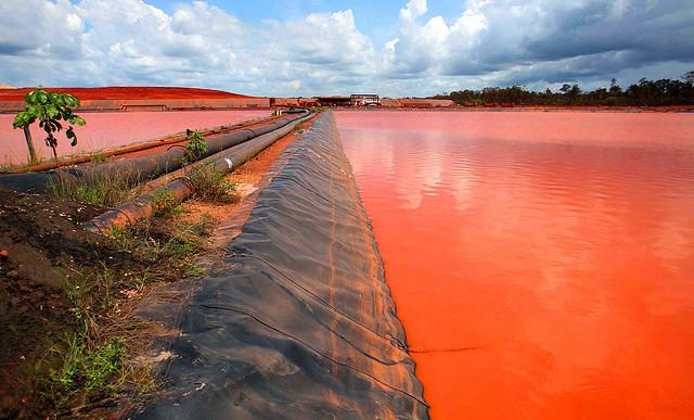 Derrame de relaves mineros en el río Pará - Créditos: Igor Brandão/Agencia Pará