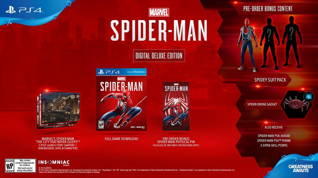 Marvel's Spider Man Digital Deluxe Edition
