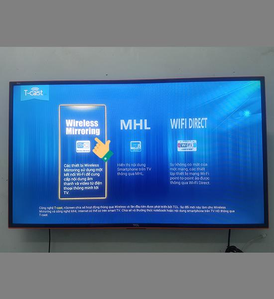 Cách chiếu màn hình điện thoại lên smart Tivi
