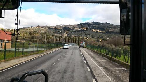 On the road to Cortona, Tuscany, Italy
