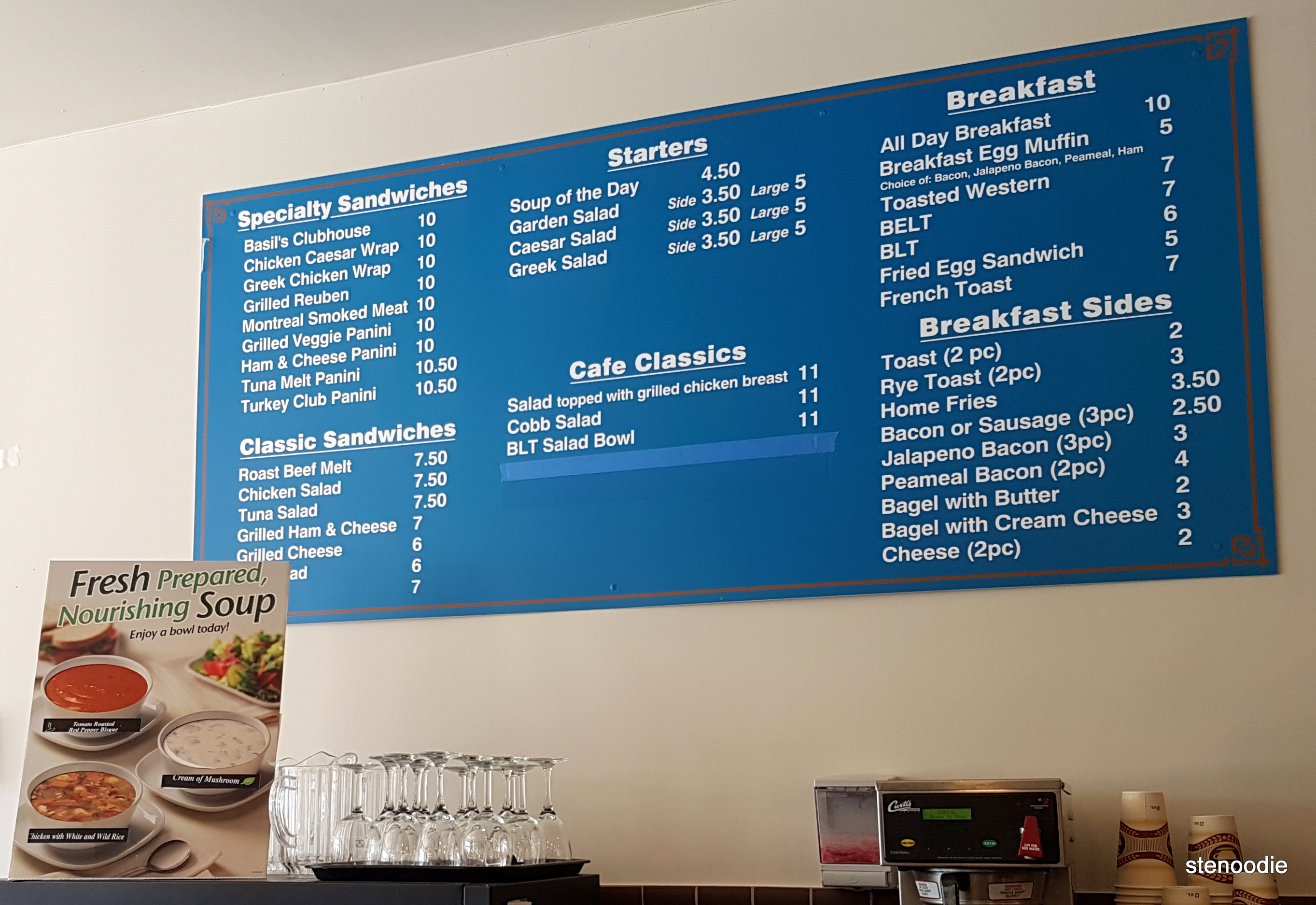 Basil's Market and Deli menu and prices