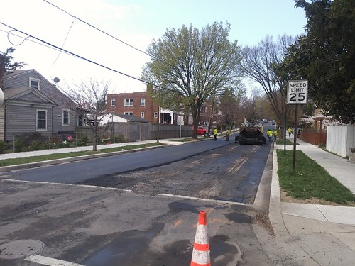 Repaving the 300 block of Peabody Street NW