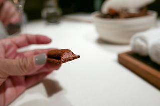 BIRD'S LIVER Cinnamon, crispy chestnut chestnut bread, roasted anise