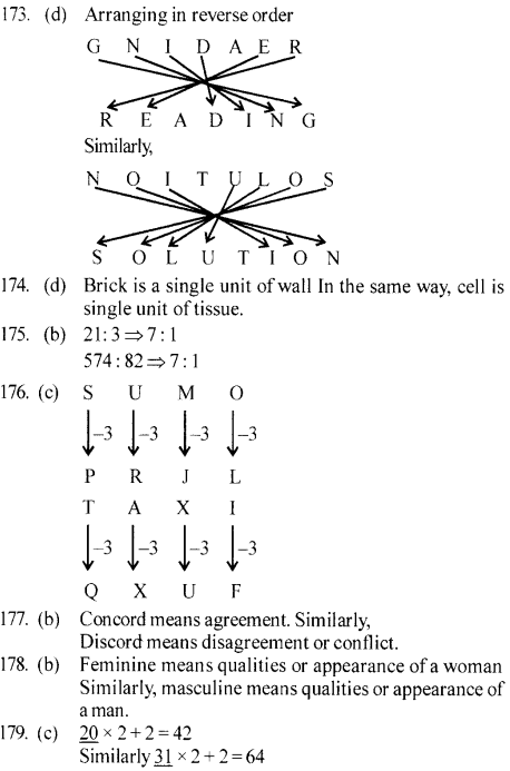 ssc-reasoning-solved-papers-analogy - 34