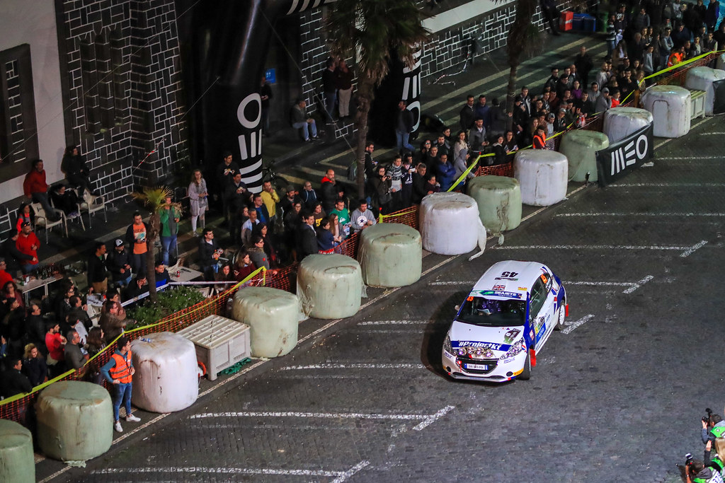 45 MUNNINGS Catie (gbr) STEIN Anne Katharina (deu), Sainteloc junior Team, Peugeot 208 R2, action during the 2018 European Rally Championship ERC Azores rally,  from March 22 to 24, at Ponta Delgada Portugal - Photo Jorge Cunha / DPPI