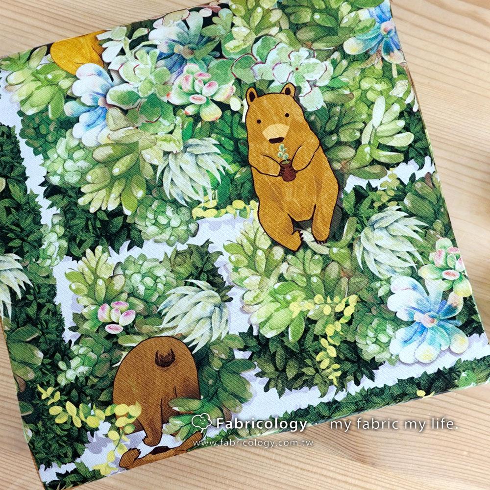 布學盒裝印花布(1y)少女多肉的煩惱 手工藝DIy拼布布料 SW001803-2