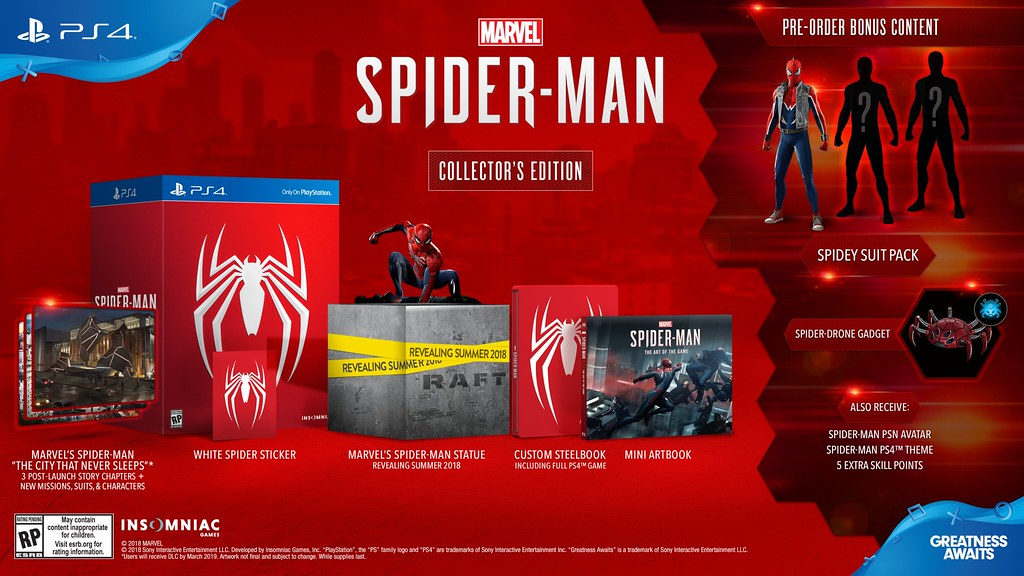 Marvel S Spider Man Swings To Ps4 September 7 Collector S Digital