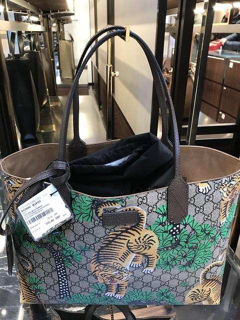 Printed Gucci tote bag