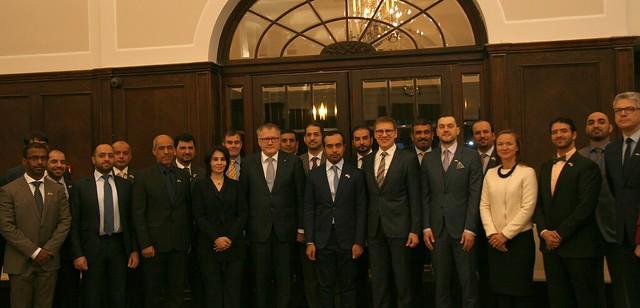Ministru prezidenta biedra, ekonomikas ministra A.Ašeradena tikšanās ar Apvienoto Arābu Emirātu Nacionālās aizsardzības koledžas delegāciju