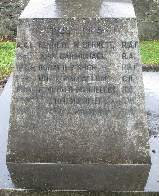 Fortingall War Memorial Side Panele