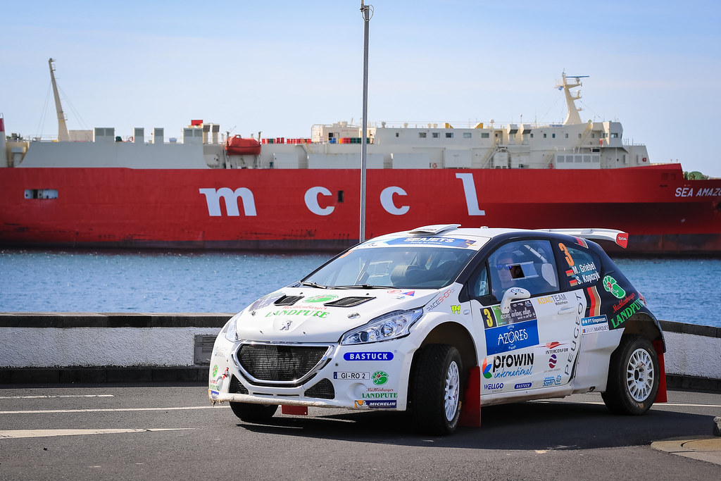 03 GRIEBEL Marijan (deu), KOPCZYK Stefan (deu), PEUGEOT 208 T16, portrait during the 2018 European Rally Championship ERC Azores rally,  from March 22 to 24, at Ponta Delgada Portugal - Photo Jorge Cunha / DPPI
