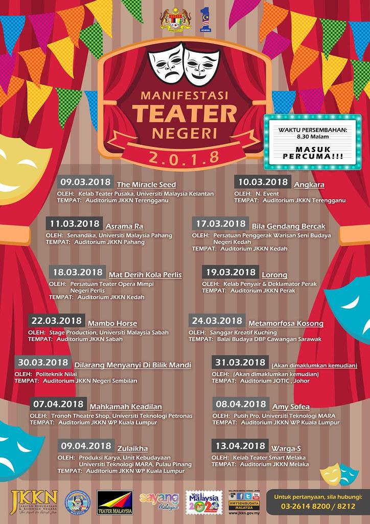 Festival Manifestasi Teater Negeri 2018