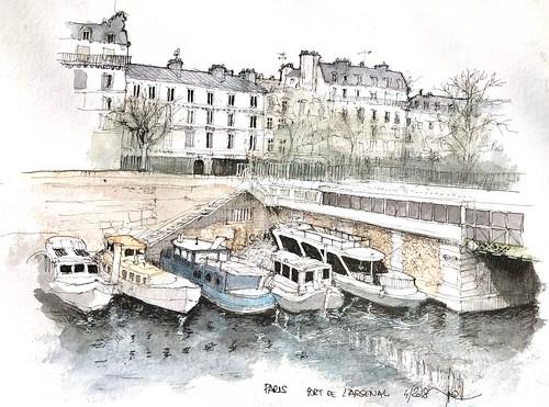 PARIS Port de l'Arsenal