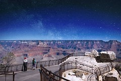As your eyes register slowly, the vast view, the stars and the depth becomes crystal clear. ?  ? Grand Canyon, Arizona, USA |  Anthony Kdo