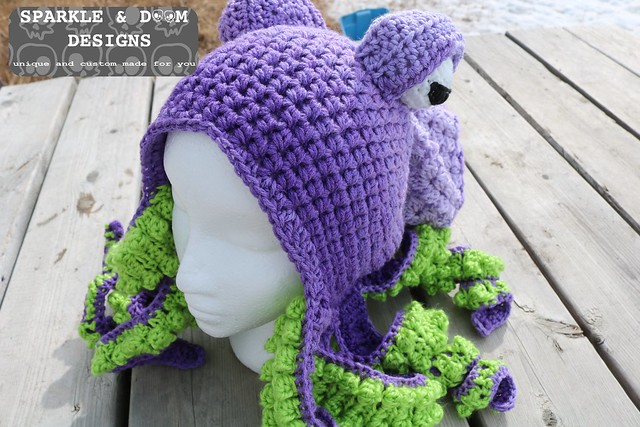 HAT Octopus Hat Purple lime a