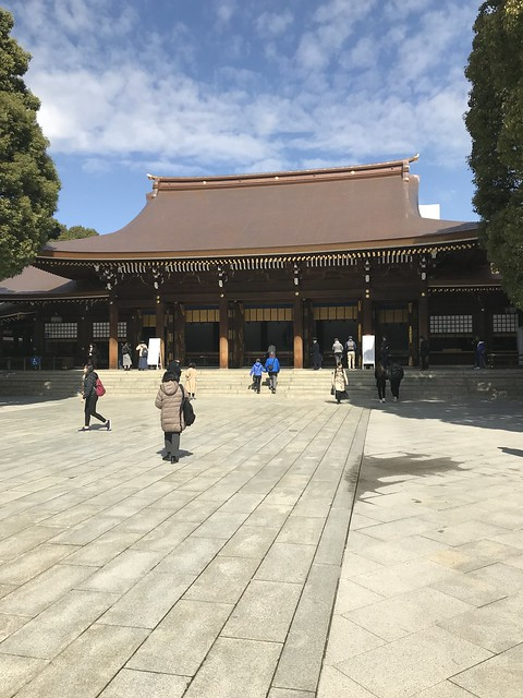 Worship hall at Meiji shrine