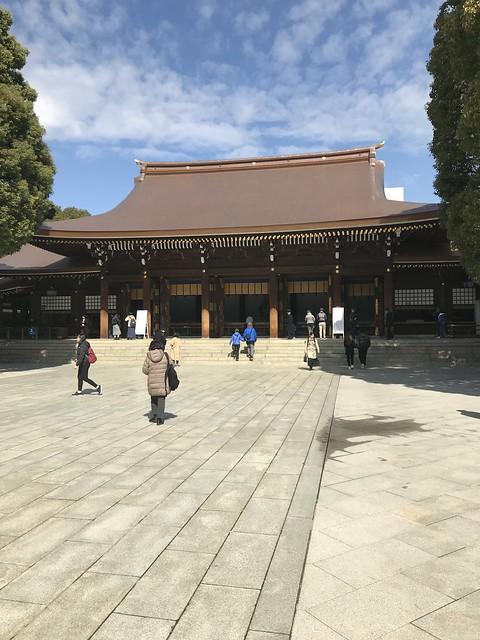 Worship hall at Meiji shrine