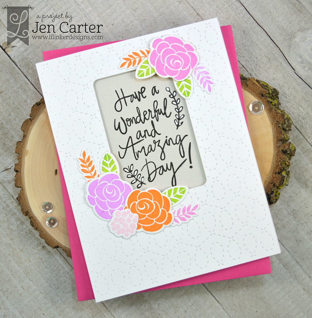 Jen Carter Hand Drawn Happiness Best Mom Shaker Tag Quilted Swirl wm