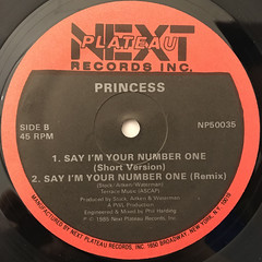 PRINCESS:SAY I'M YOUR NUMBER ONE(LABEL SIDE-B)