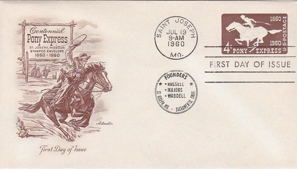 United States - Scott #U543 (1960) first day cover - Saint Joseph, Missouri